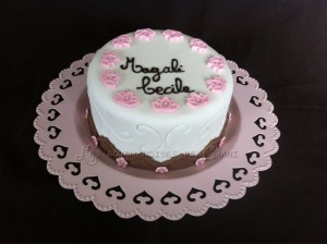 Le gâteau de mes 38 ans en blanc rose et chocolat