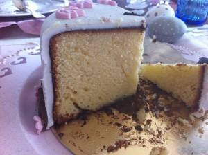 Le gâteau de mes 38 ans : gâteau au citron recouvert de nutella