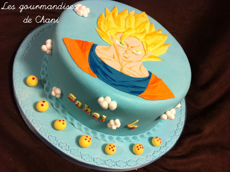 gâteau dragon ball z – les gourmandises de chani