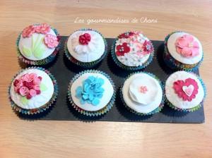 Cupcake fleuris
