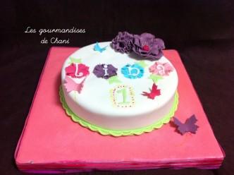 Gateau fleuri rose violet anis et turquoise 1_1