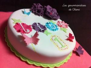 Gateau fleuri rose violet anis et turquoise 1_2