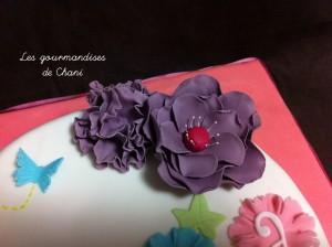 Gateau fleuri rose violet anis et turquoise 1_4