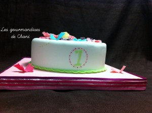 Gâteau fleuri rose violet anis turquoise 2_2