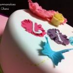 Gâteau fleuri rose violet anis turquoise 2_5