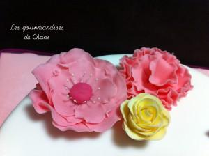 Gâteau fleuri rose violet anis turquoise 2_6