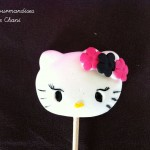 Sucette Hello Kitty fushia noir