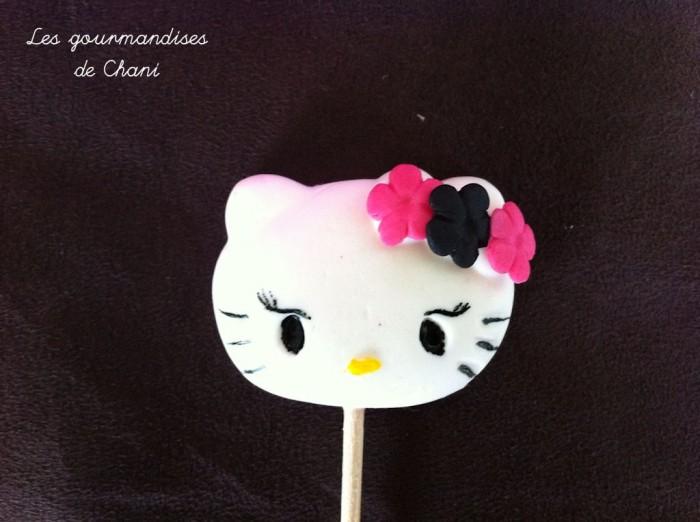 Sucette Hello Kitty fushia noir