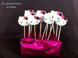 Sucettes Hello Kitty fushia noir