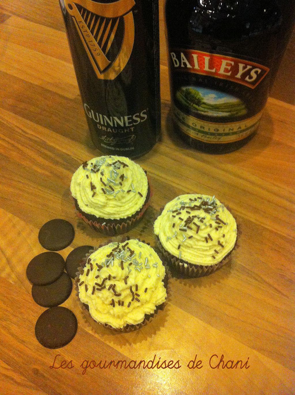 cupcakes chocolat guiness baileys