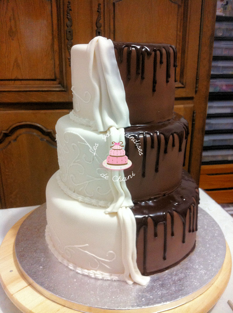 Realiser Un Wedding Cake Bicolore Les Gourmandises De Chani
