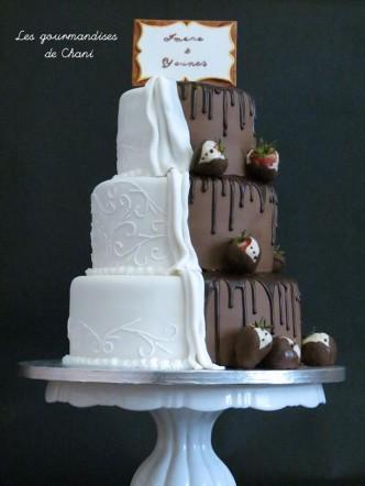 wedding cake bicolore