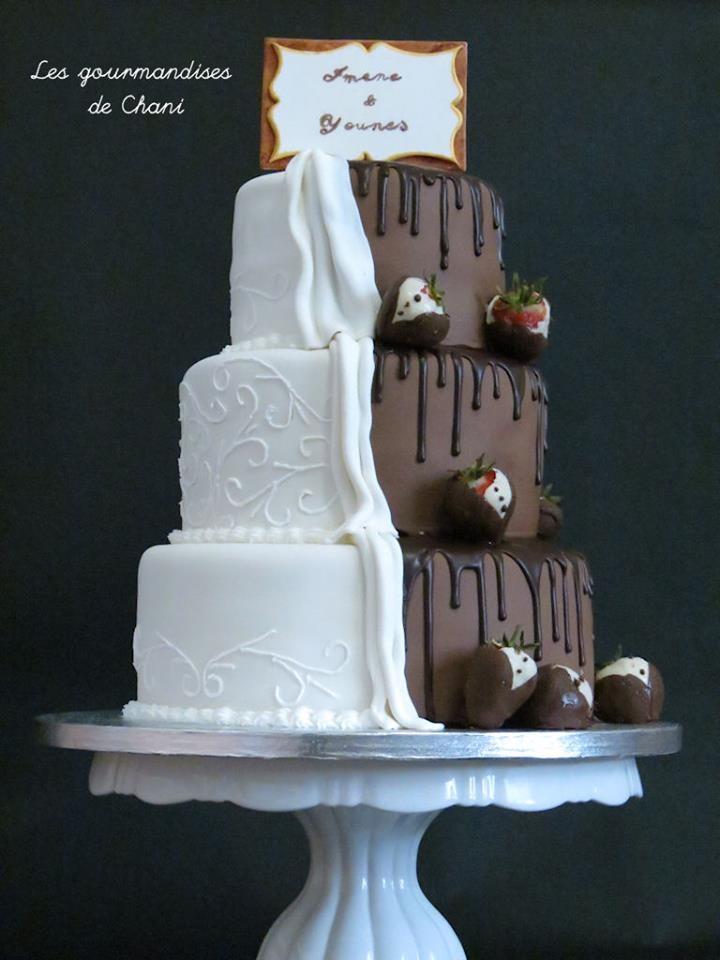 Realiser Un Wedding Cake Bicolore Les Gourmandises De Chani